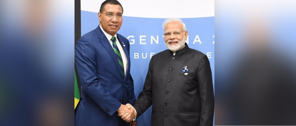 Prime Minister of India Shri Narendra Modi with Jamaican PM Most Hon'ble Andrew Holness during G-20 Summit in Argentina